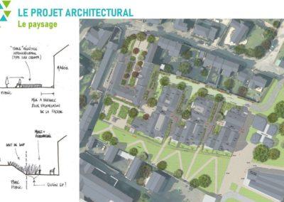 Projet architectural Le Paysage par Atelier INEX