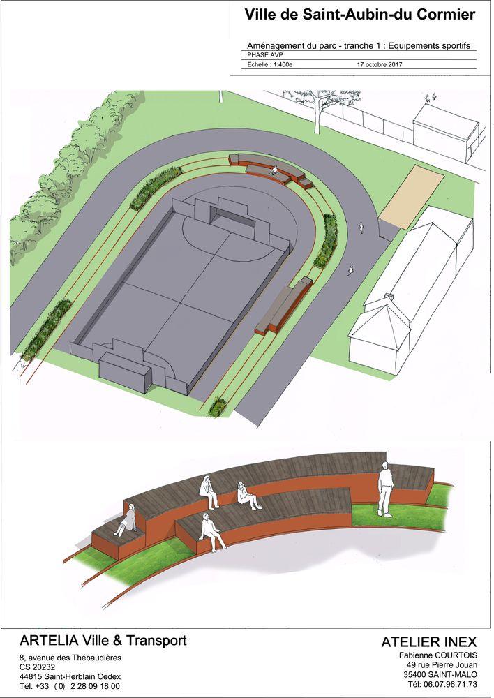 Aménagements sportifs Saint-Aubin-du-Cormier - Atelier INEX