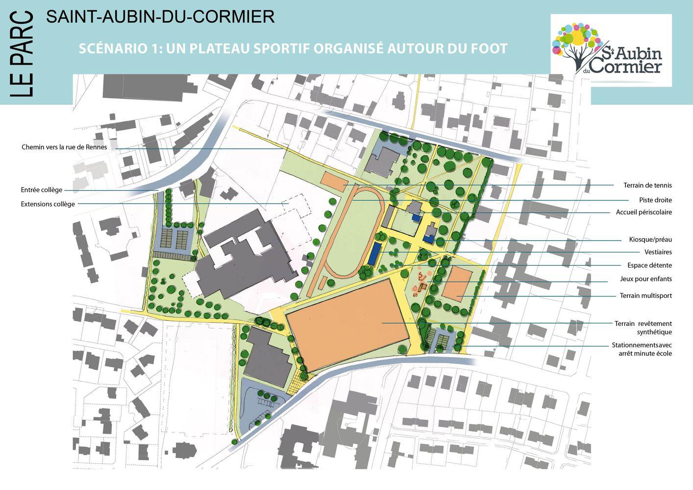Scénario d'aménagement 1 Saint-Aubin-du-Cormier