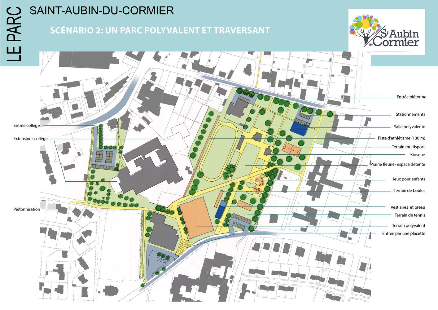 Scénario d'aménagement 2 Saint-Aubin-du-Cormier