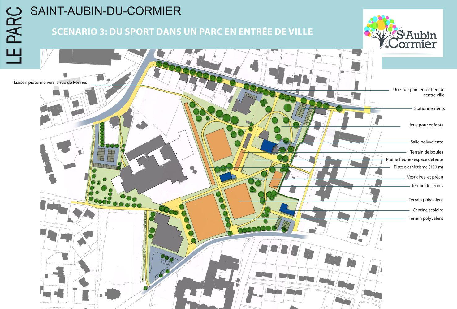 Scénario d'aménagement 3 Saint-Aubin-du-Cormier