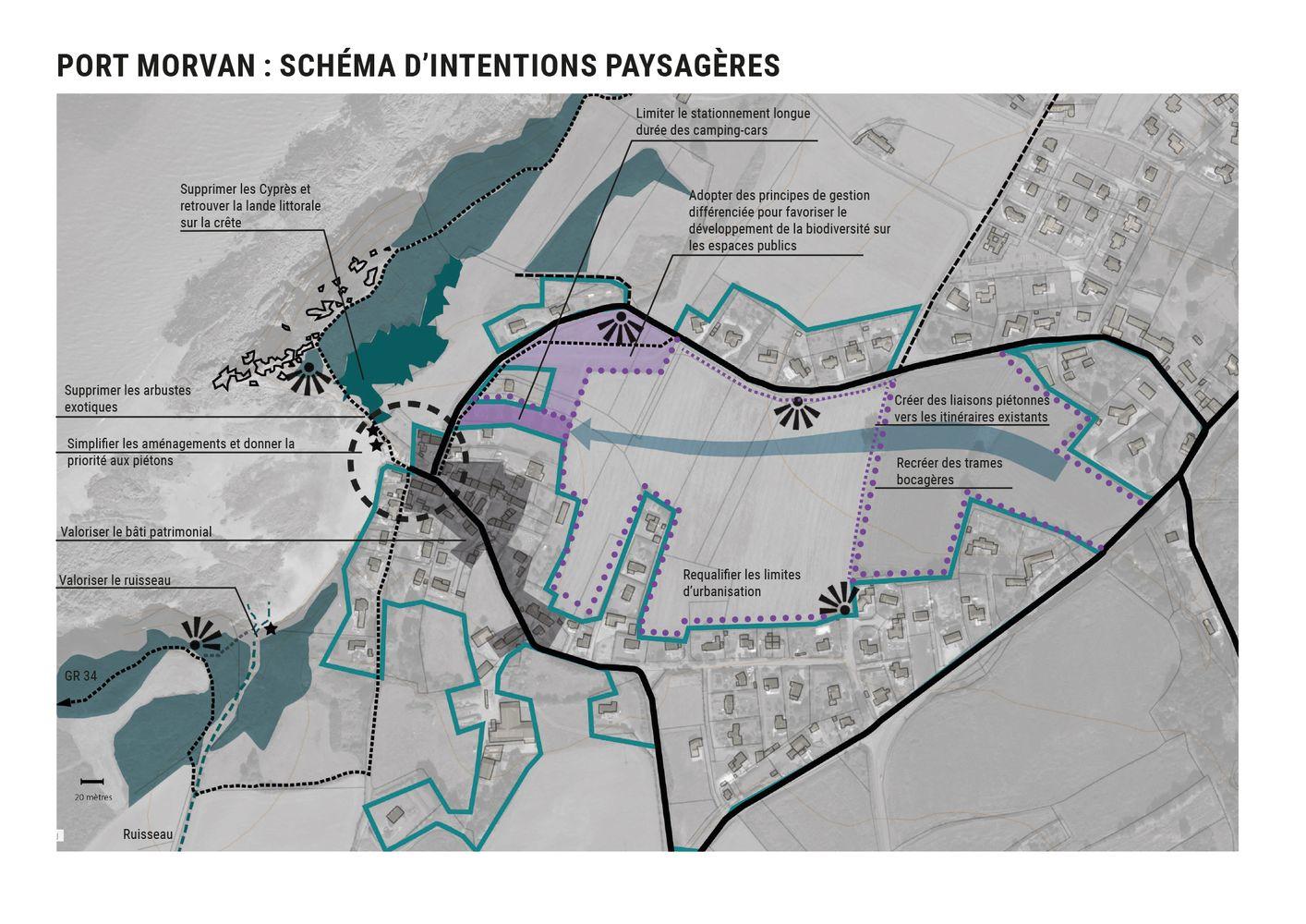 Valorisation site Port Morvan schéma d'intentions paysagères - Atelier INEX
